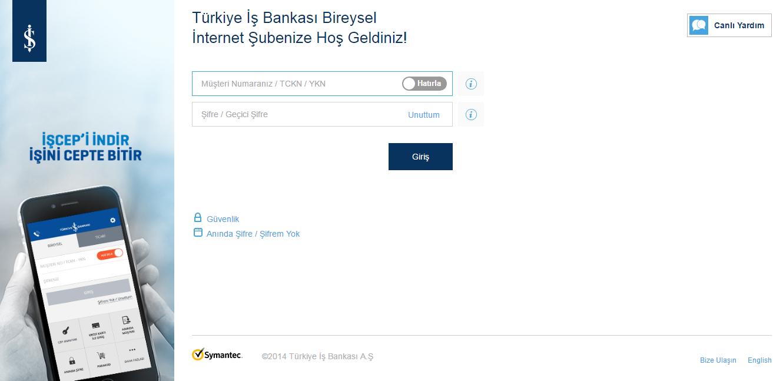 İş bankası sanal kart oluşturma ilk adım