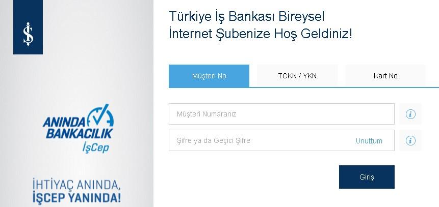 İşbankası internet şubesi