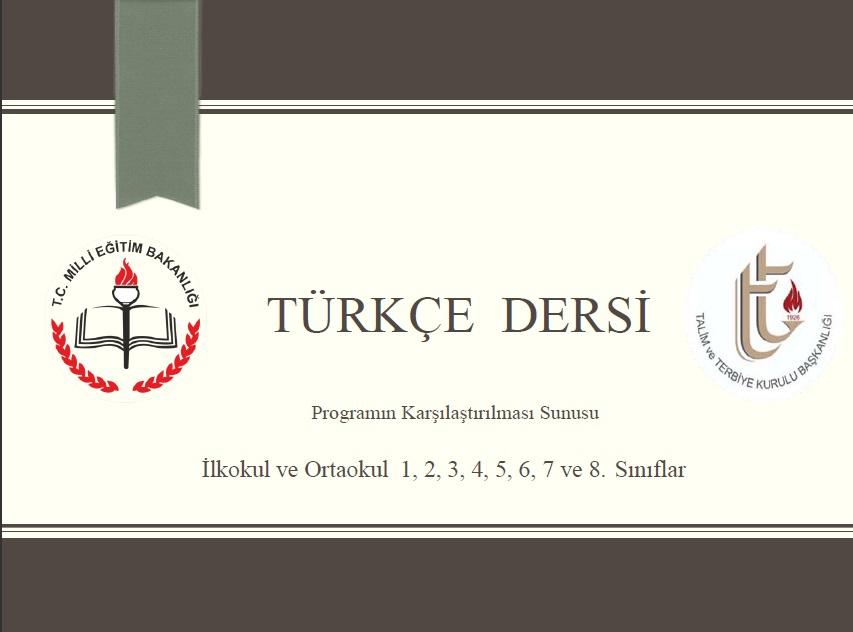 Türkçe dersi yeni müfredat 2017