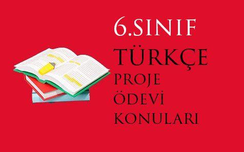 6.Sınıf Türkçe Proje Ödevi Örnek Konu İsimleri