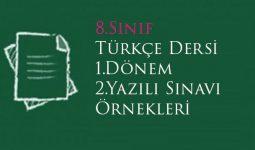 8.Sınıf Türkçe 1.Dönem 2.Yazılı Örnek Soruları
