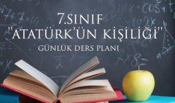 Atatürk'ün kişiliği metni günlük plan