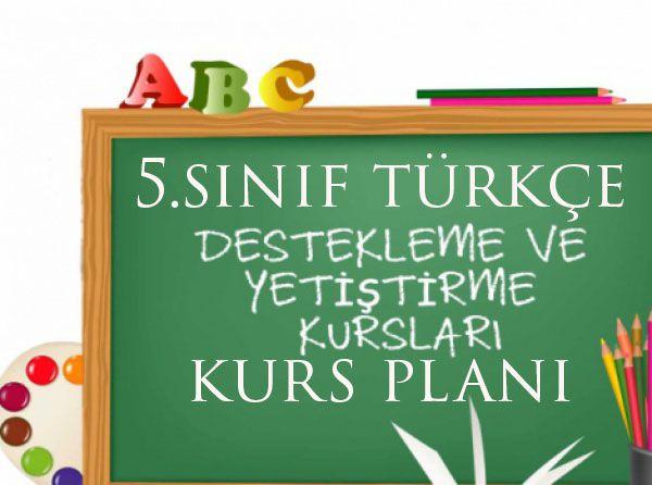 5.Sınıf Türkçe Kurs planı
