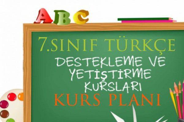 7.Sınıf Türkçe DYK Planı