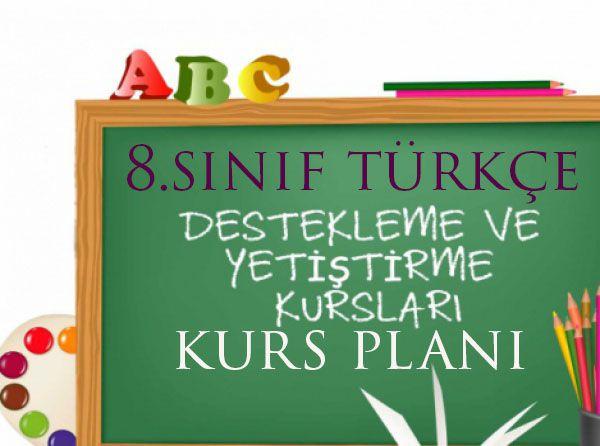 8.Sınıf Türkçe DYK Planı