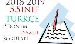 5.Sınıf Türkçe 2.Dönem 1.Yazılı Örneği
