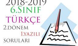 6.Sınıf Türkçe 2.Dönem 1.Yazılı Örneği