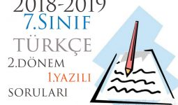 7.Sınıf Türkçe 2.Dönem 1.Yazılı Örneği