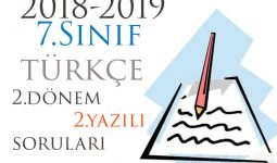 7.Sınıf Türkçe 2.Dönem 2.Yazılı Örneği