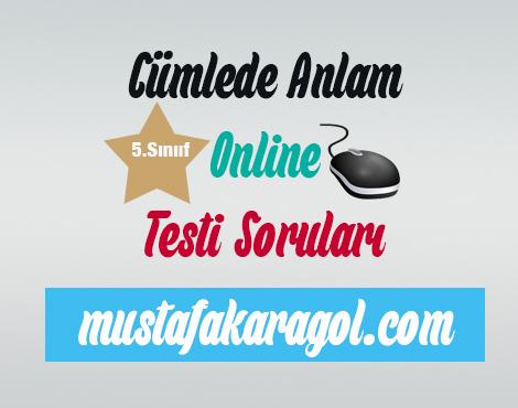 Cümlede Anlam Online Testi Çöz