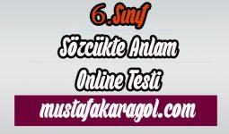 6.Sınıf Sözcükte Anlam Testi Çöz