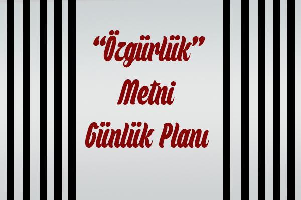 Özgürlük Günlük Plan