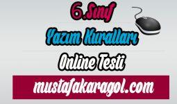 6.Sınıf Yazım Kuralları Online Testi Çöz
