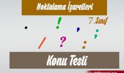 7.Sınıf Noktalama İşaretleri Online Test