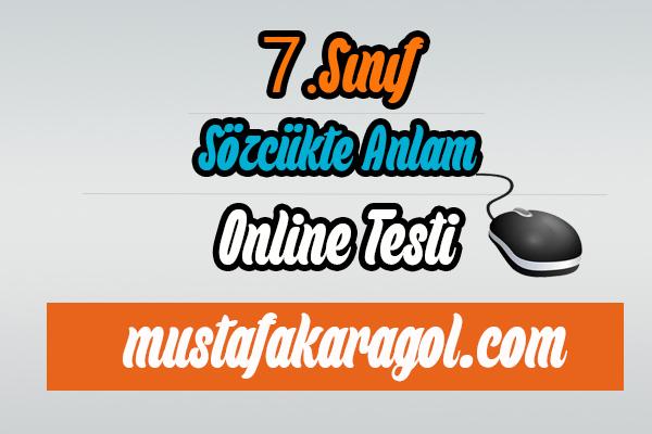 7.Sınıf Türkçe Sözcükte Anlam Testi