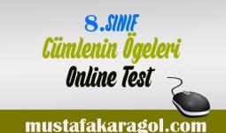 8.Sınıf Cümlenin Ögeleri Testi