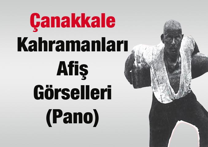 Çanakkale Kahramanları Pano Afişi