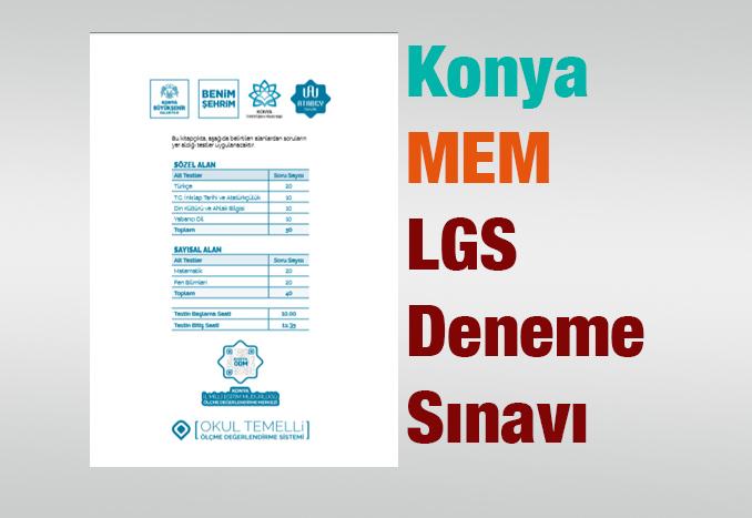 Konya MEM LGS Denemesi