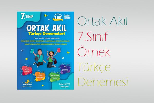 Ortak Akıl Türkçe 7.Sınıf