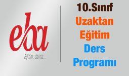 10.Sınıf Uzaktan Ders Programı