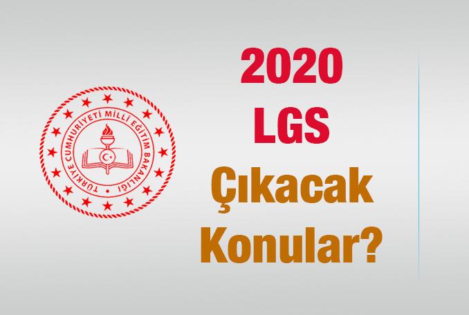 LGS Çıkacak Konular 2020