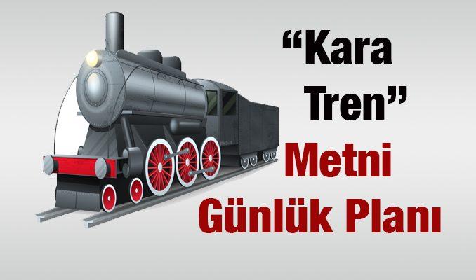 Kara Tren Metni Günlük Ders Planı
