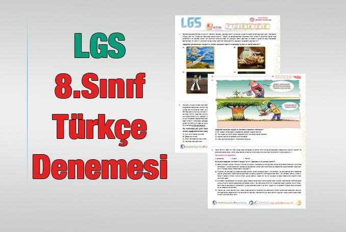 8.Sınıf Türkçe Denemesi 2020