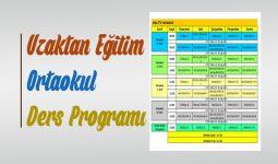 Ortaokul Uzaktan Eğitim Ders Programı