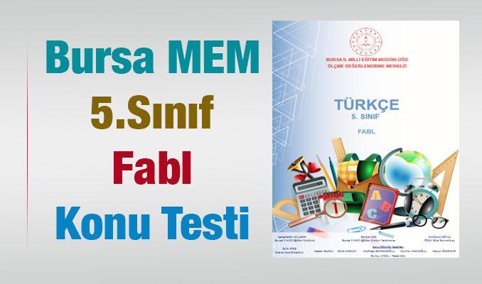 Bursa MEM 5.Sınıf Fabl Test