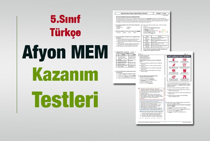 5.Sınıf Türkçe Kazanım Testleri