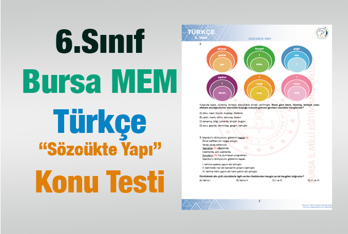 6.Sınıf Sözcükte Yapı Test