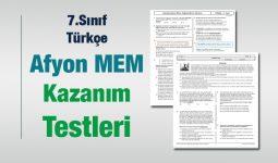7.Sınıf Türkçe Kazanım Testleri