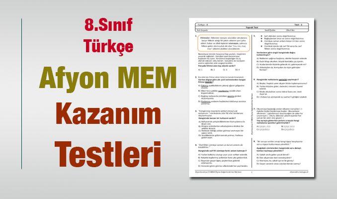 8.Sınıf Türkçe Kazanım Testleri