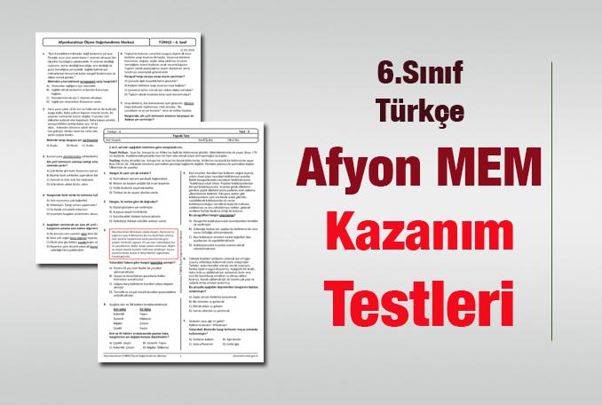 6.Sınıf Türkçe Kazanım Testleri