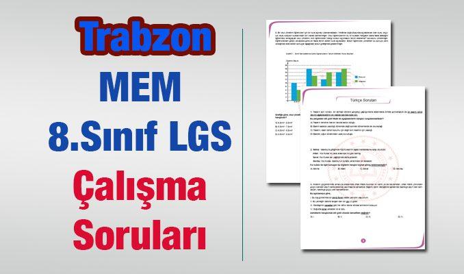 LGS Trabzon MEM Çalışma Soruları