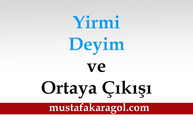 Yirmi Deyimin Hikayesi